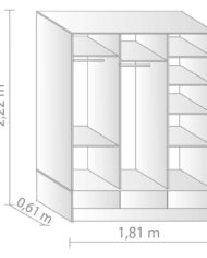 interior placard 3 puertas corredizas